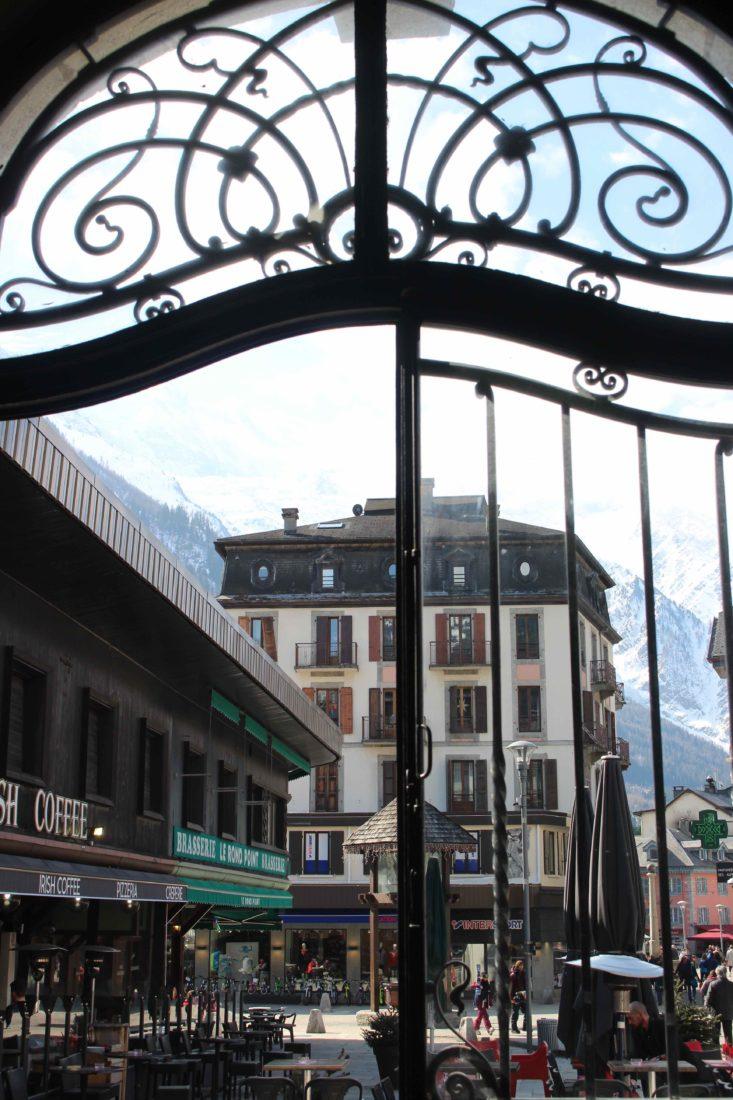 Chamonix Vue depuis l'hôtel des Alpes