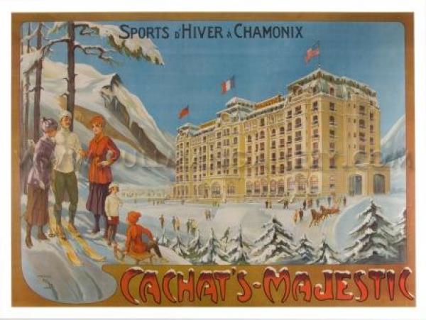 Chamonix cachat's Majestic hiver Affiche
