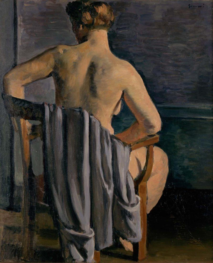 Nu au fauteuil de dos, [1930] Wilhelm Gimmi