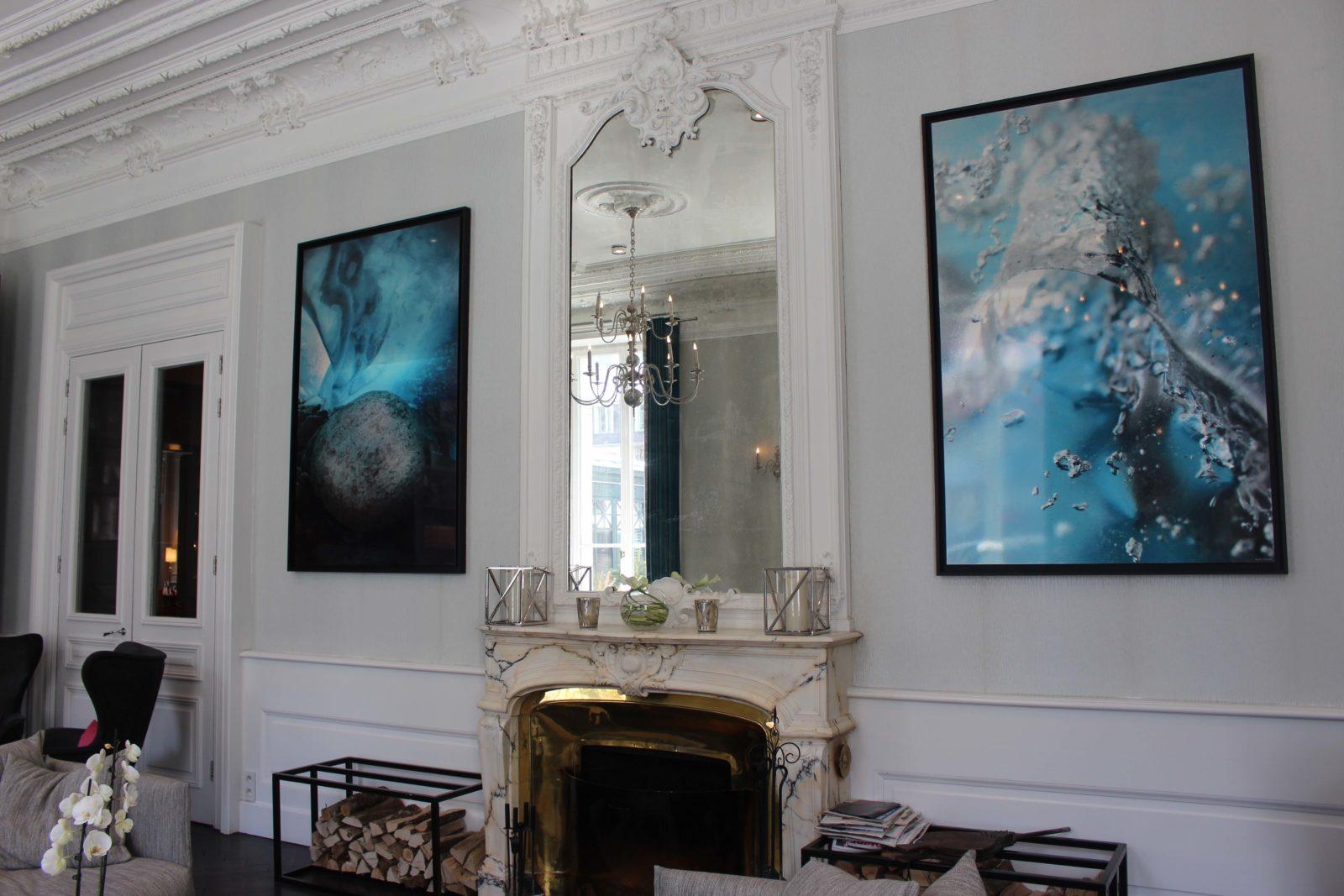 Chamonix L'Hôtel Mont-Blanc salon cheminée