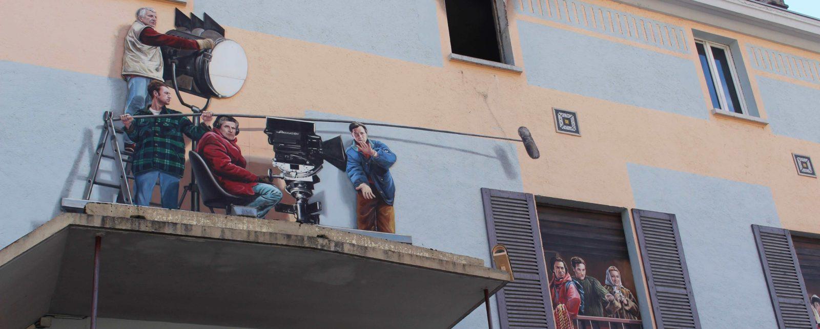 Chamonix fresque cinéastes Lelouch