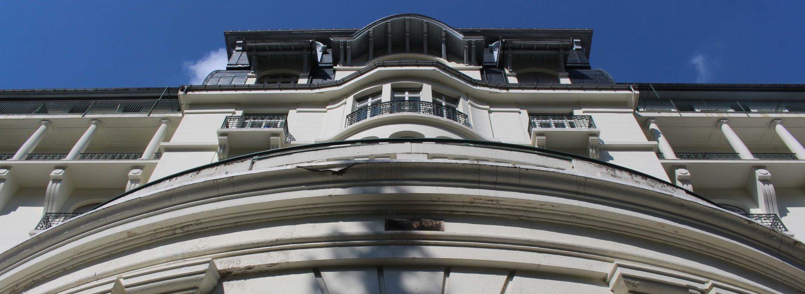 Chamonix façade du Majestic