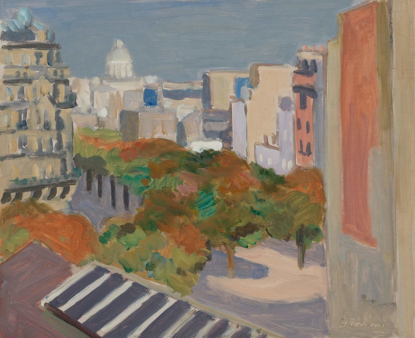 Paysage parisien Montparnasse Wilhelm Gimmi