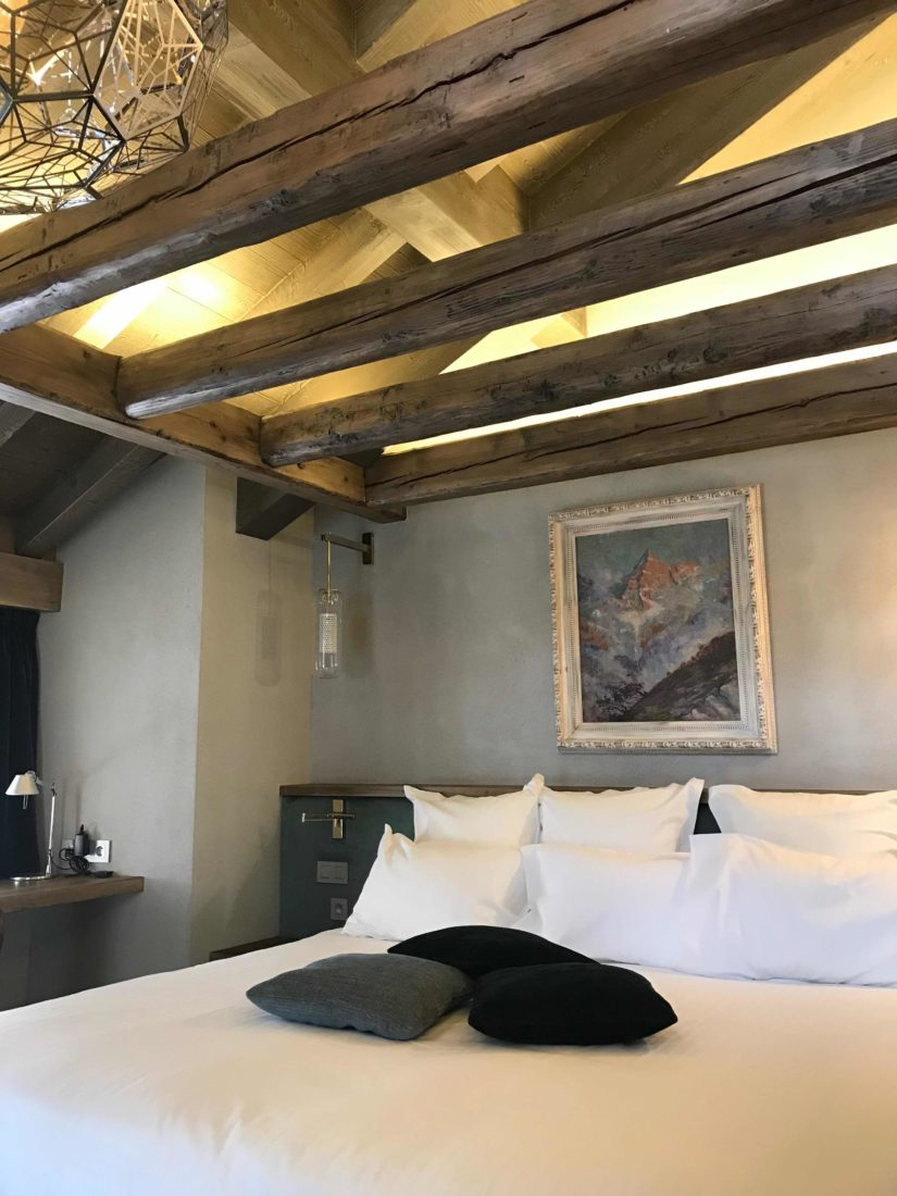Chamonix Hôtel 5* Hameau Albert 1er suite Blaitière chambre