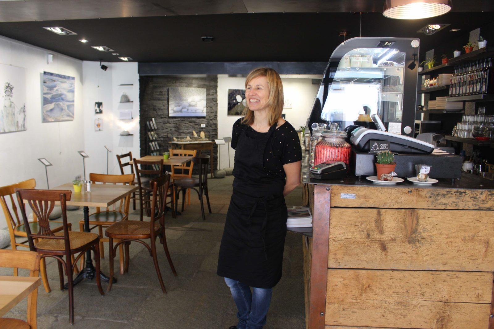 Chamonix galerie café des aiguilles intérieur