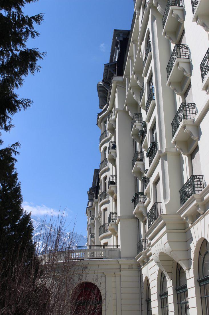 Chamonix vue et hotel majestic