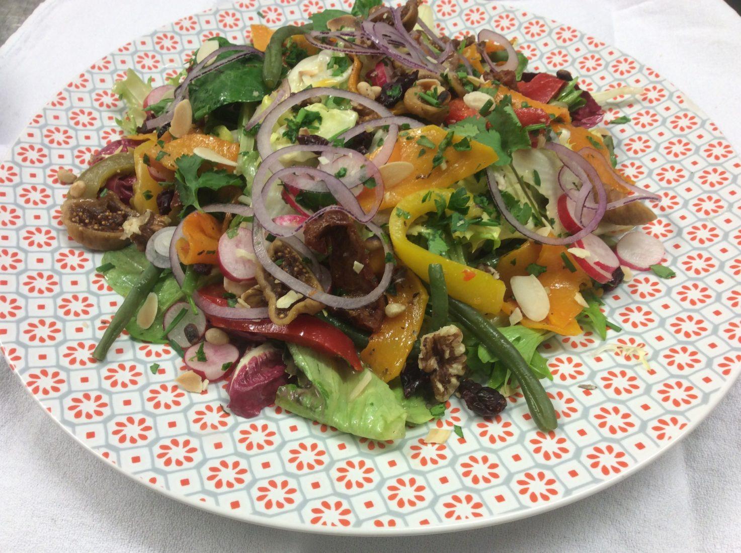 Chamonix restaurant La Fine bouche salade