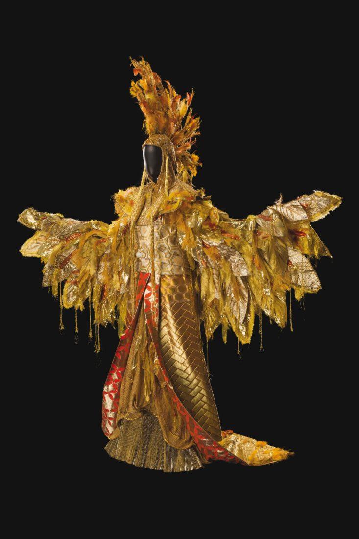 Costume de Tomio Mohri pour le rôle du Coq d'or, dans Le Coq d'or