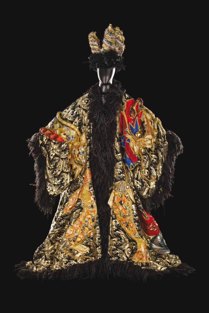 Costume de Tomio Mohri pour le rôle du Roi Dodon, dans Le Coq d'or