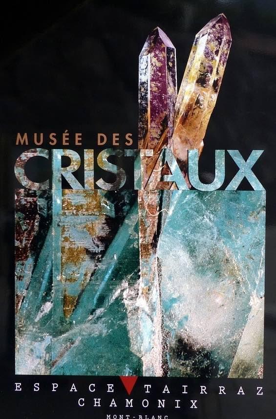 Chamonix Affiche musée des cristaux