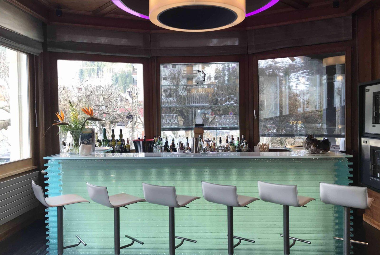Chamonix Hôtel 5* Hameau Albert 1er le bar du quartzBar