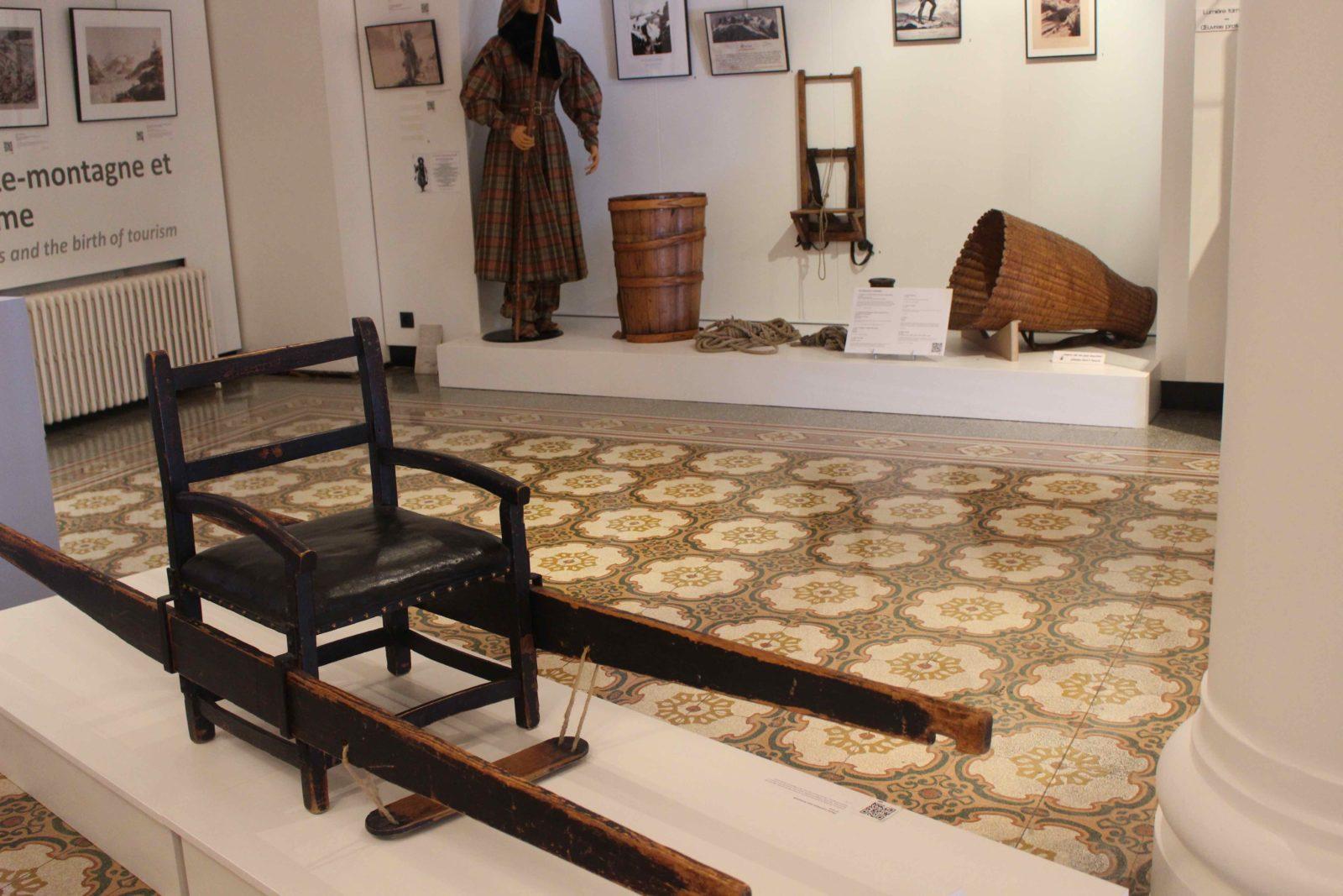chaise à porteurs Musée Alpin Chamonix