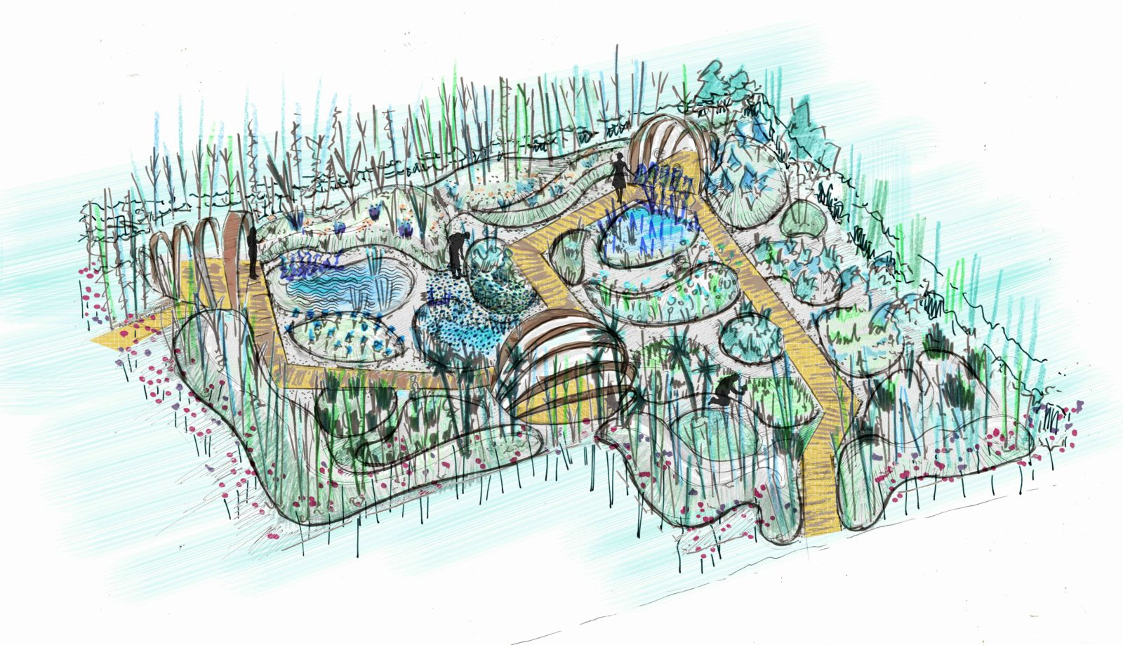 arc et senans plan jardins 2018