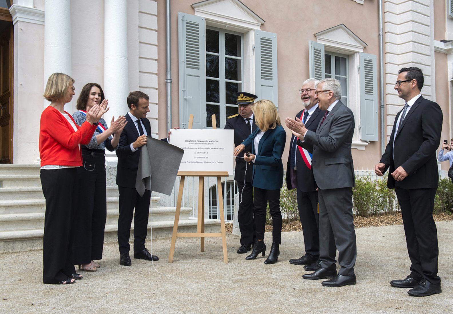 Château de Ferney Voltaire inauguration Emmanuel Macron