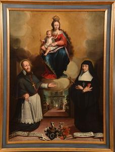 Les fondateurs de l'ordre aux pieds de laVierge Marie – Fribourg