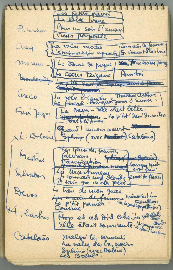 Fondation Jan Michalski Boris Vian corrections manuscrit