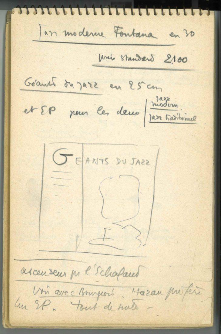 Fondation Jan Michalski Boris Vian manuscrit