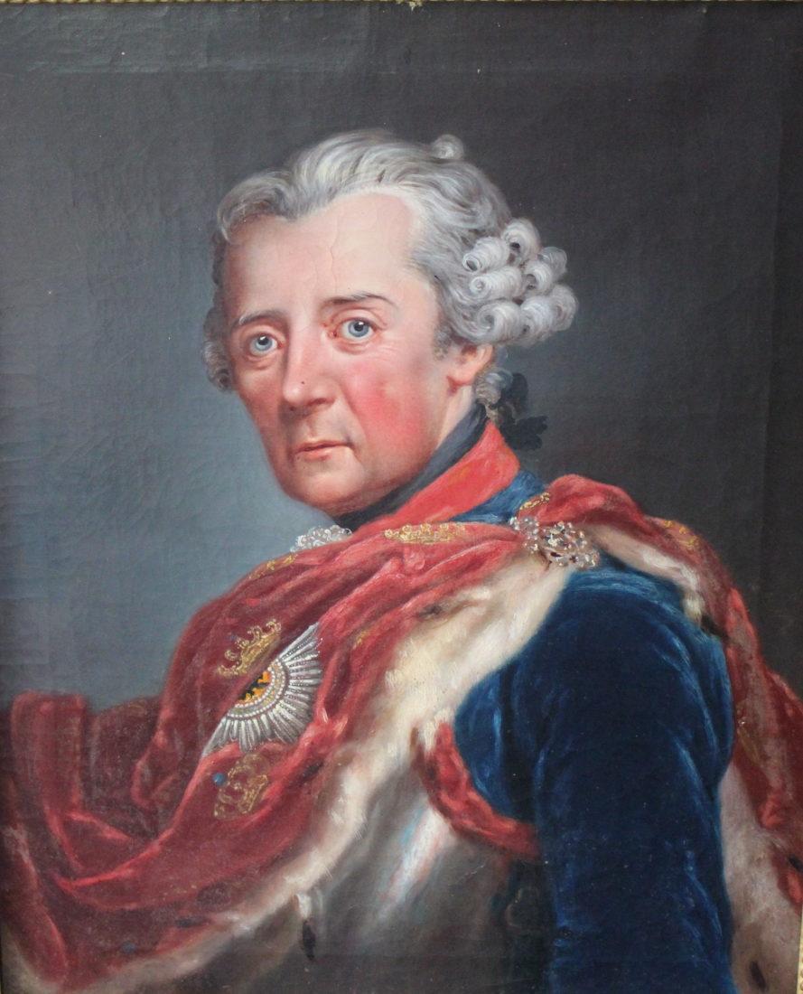 château de Ferney portrait de Frederic II