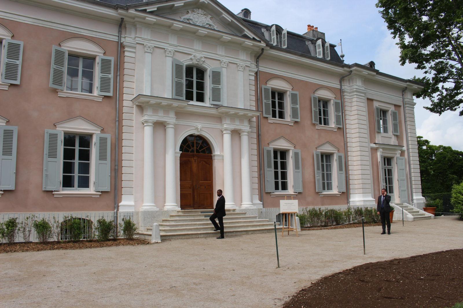 château de Ferney Voltaire façade rénovée 2018