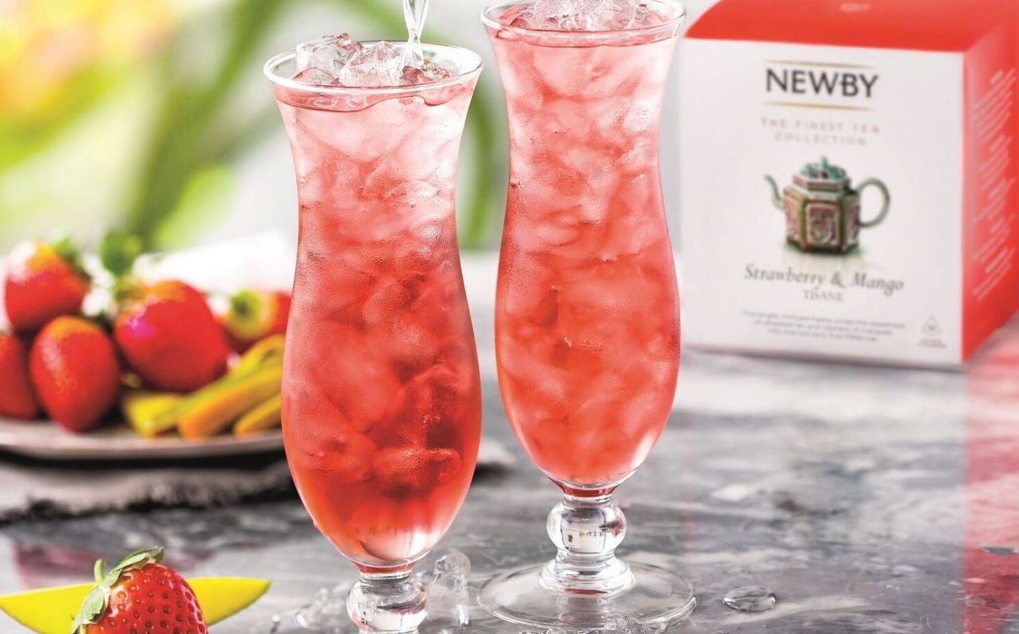 Newsbea Teas cocktail mangue fraises