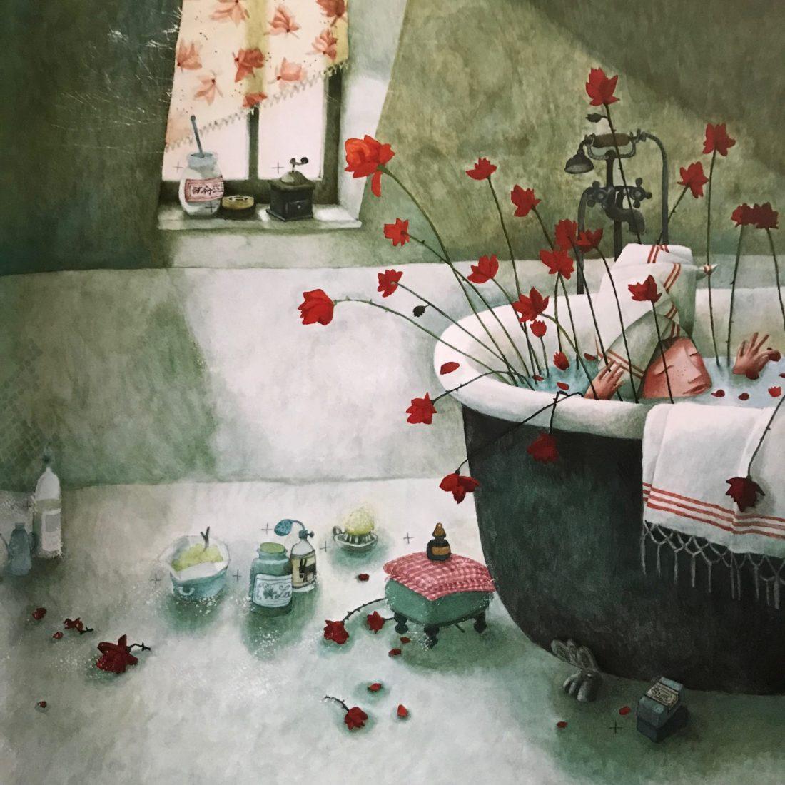 Rébecca Dautremer illustration baignoire