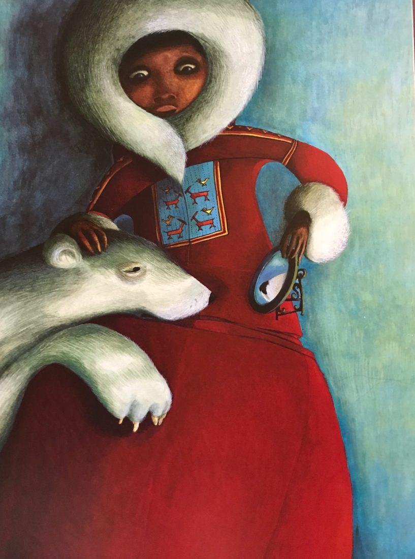 Rébecca Dautremer illustration femme et ours