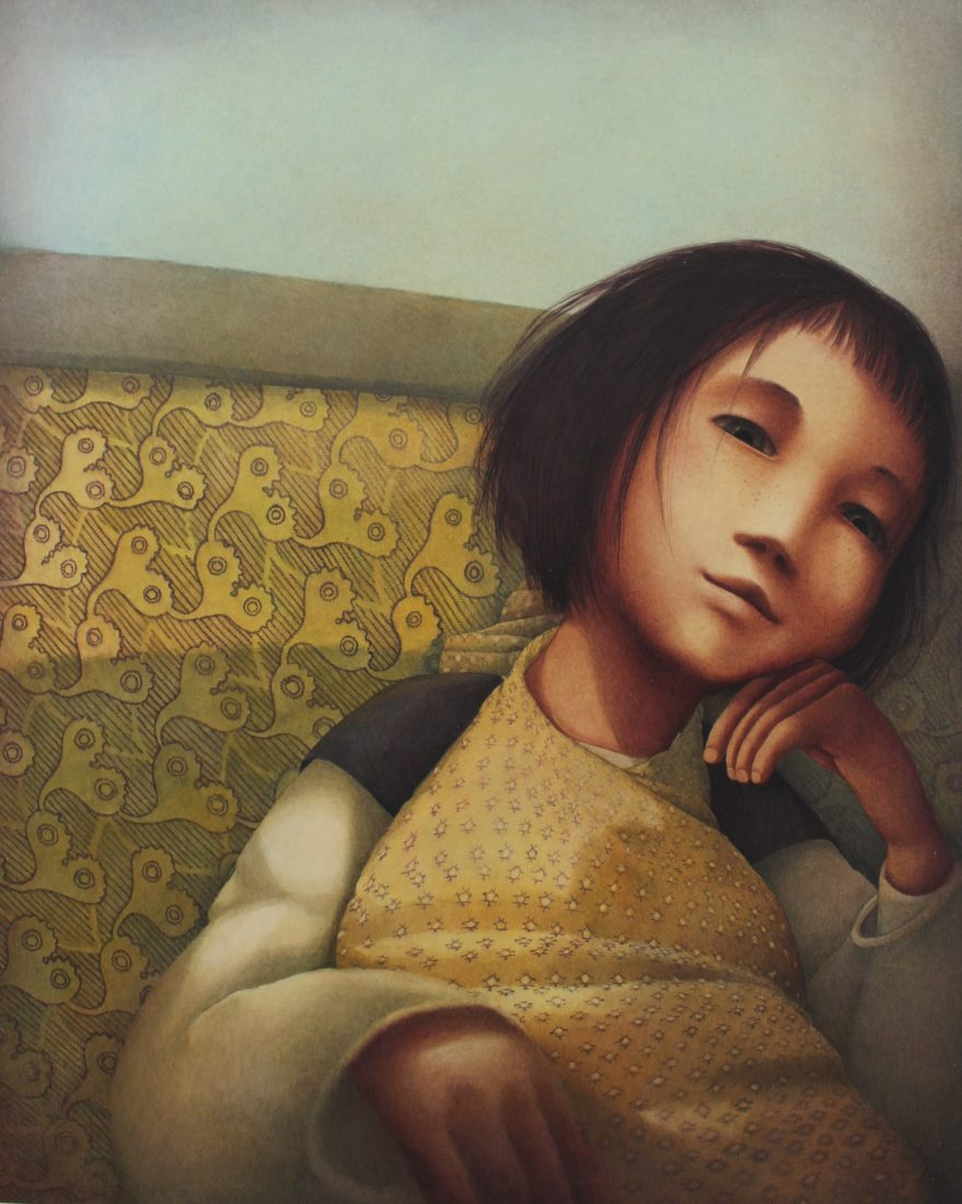 Rébecca Dautremer portrait fillette jaune