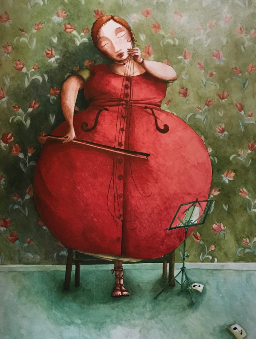 Rébecca Dautremer illustration femme violoncelle