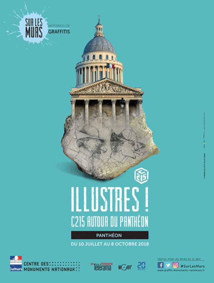 Affiche Illustres - C215 autour du Pantheon