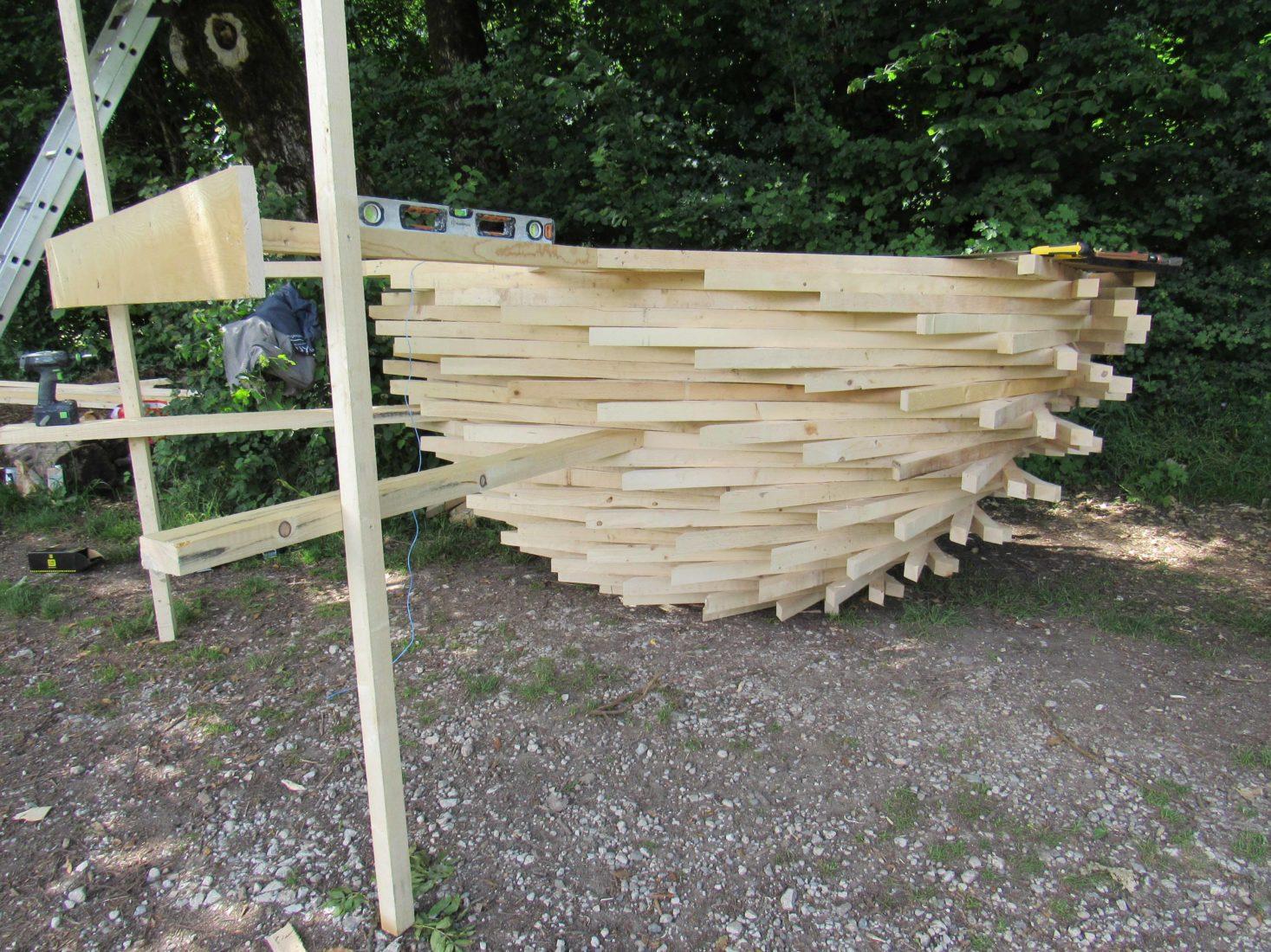 Annecy Festival des Cabanes ACROCEPHALIDEA construction