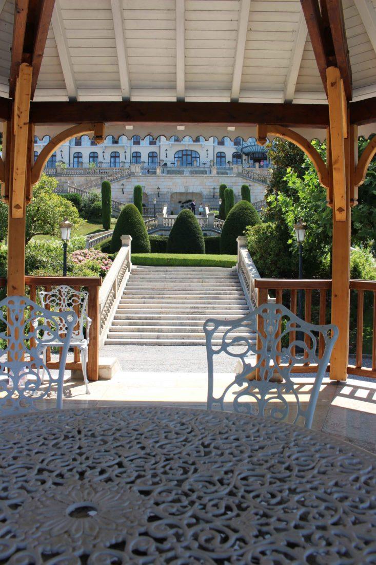 Le Palace de Menthon vue depuis le kiosque