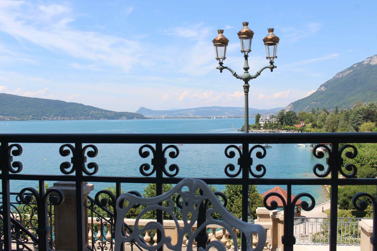 Le Palace de Menthon vue depuis le restaurant