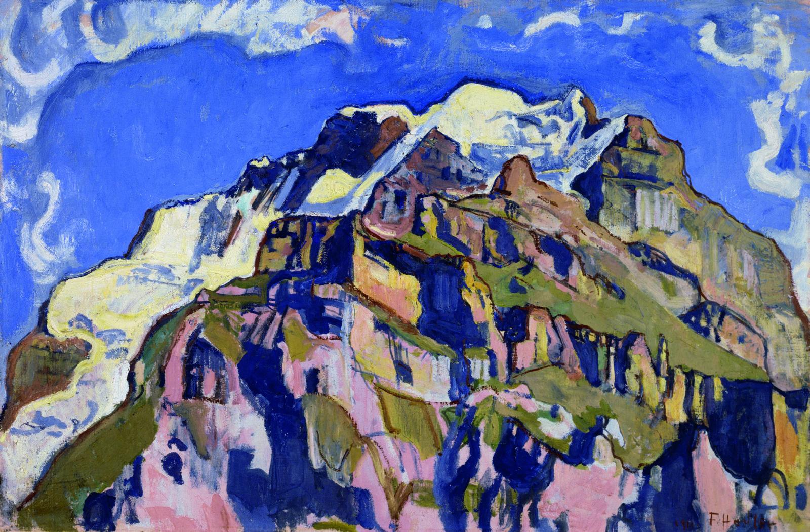 Ferdinand Hodler: Der Mönch mit Wolken,