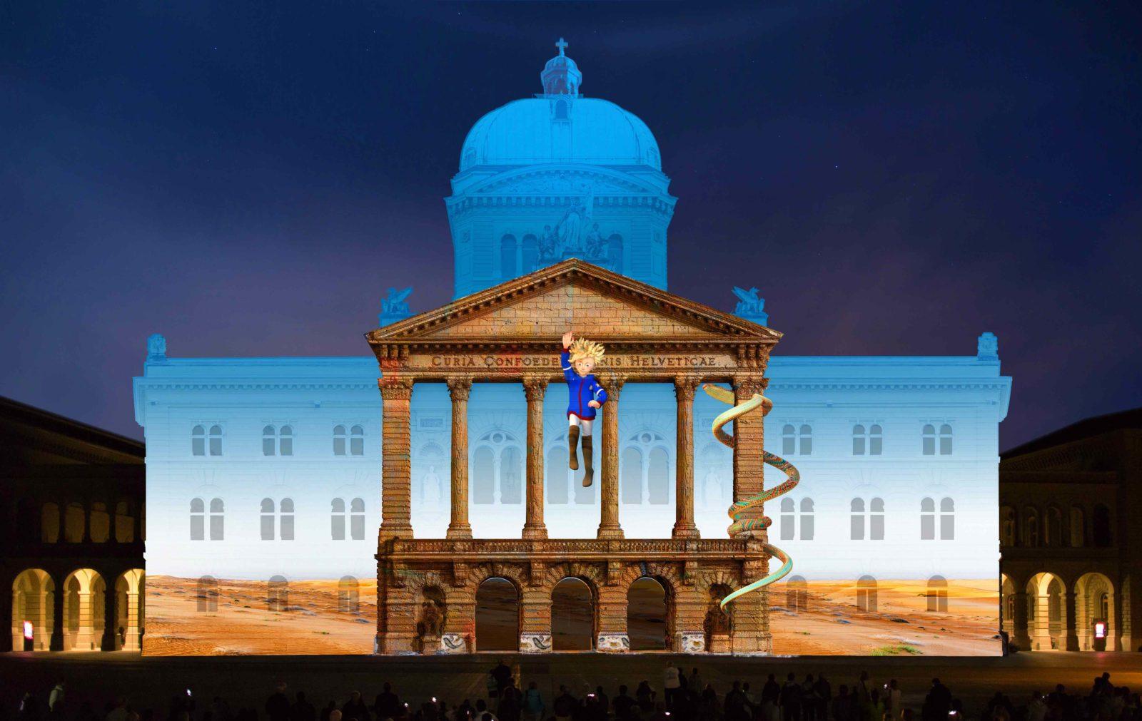 Rendez-vous Bundesplatz 2018 LE PETIT PRINCE absprung-von-ruine