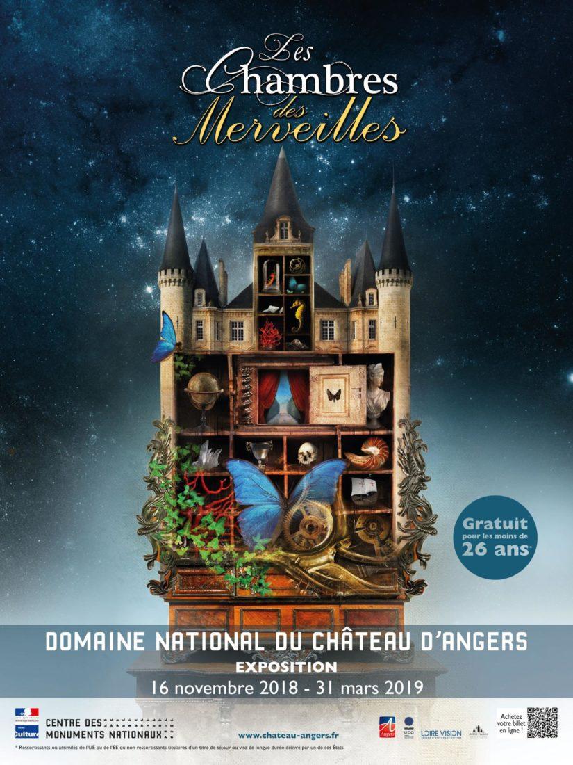 Affiche Chambres des Merveilles Château d'Angers