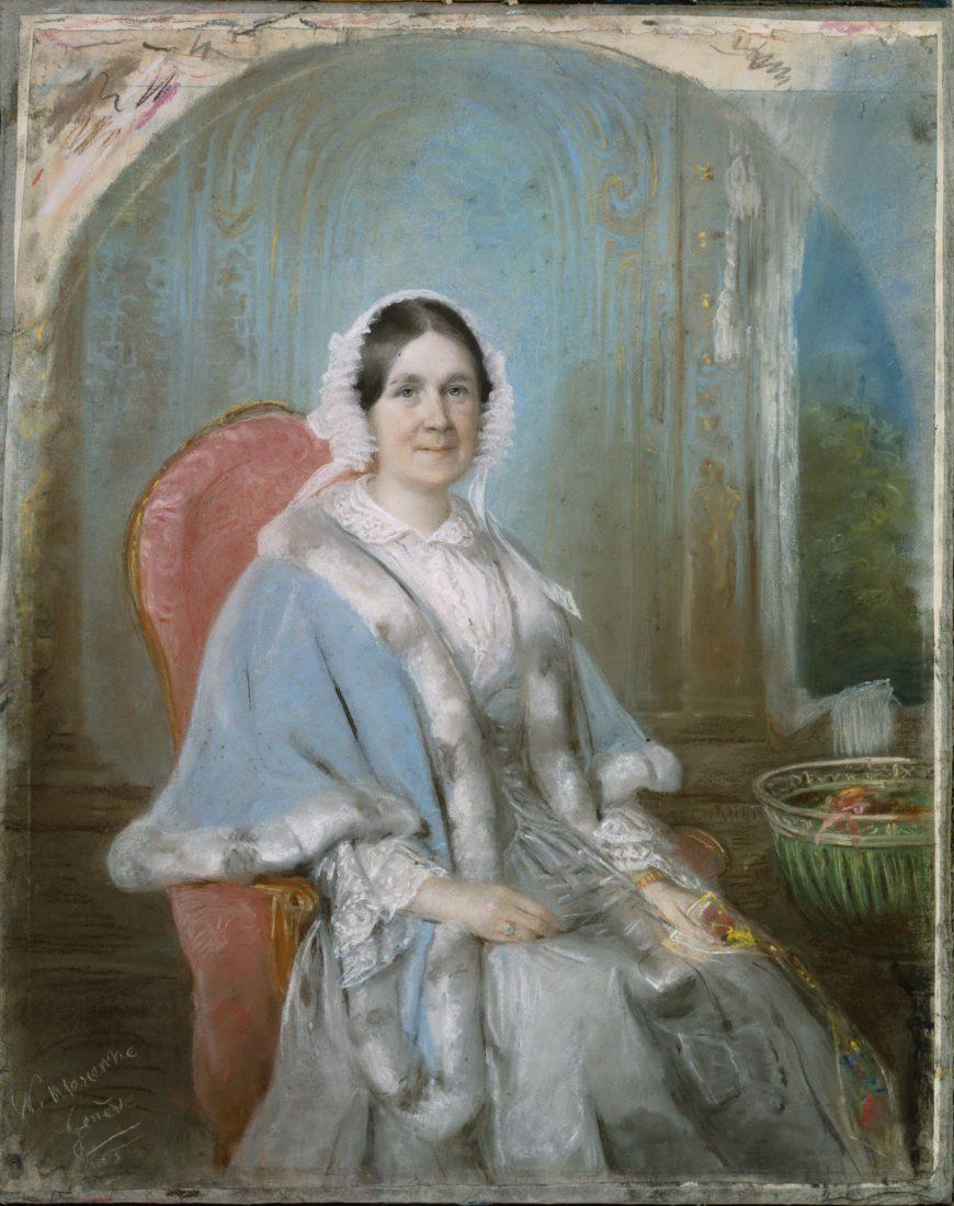 Nancy Mérienne portrait Ariane Revilliod, née De la Rive, à 40 ans