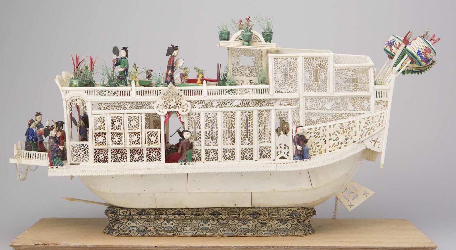 Modèle de jonque d'apparat, ChineCollection Musée d'ethnographie Genève@nicolaslieber.ch