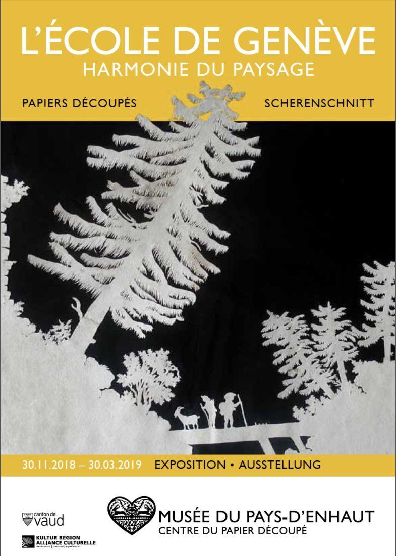 Affiche Musée du Pays-d'Enhaut L'École de Genève ~ Harmonie du paysage