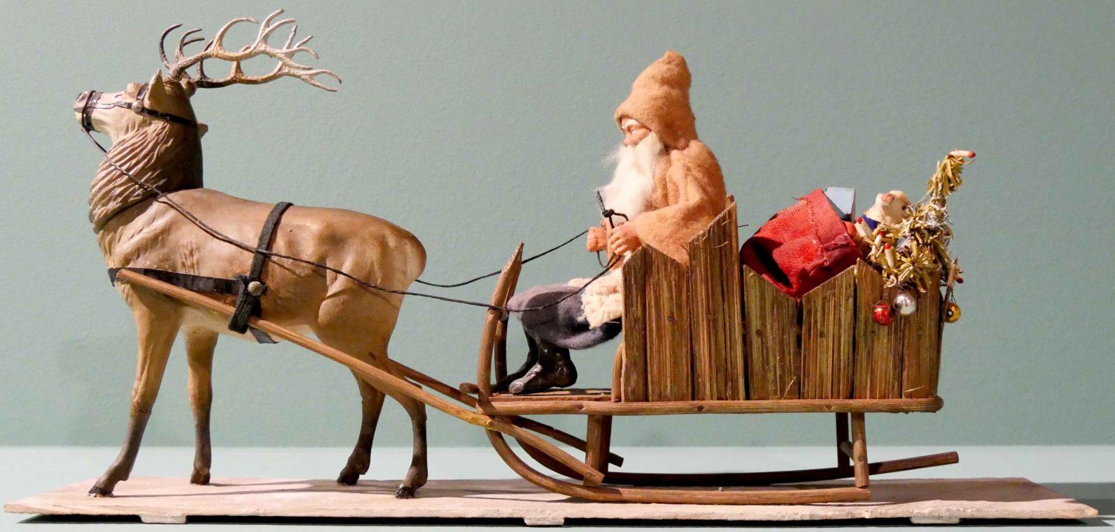 Château de Gruyères 2018 Père Noël avec renne