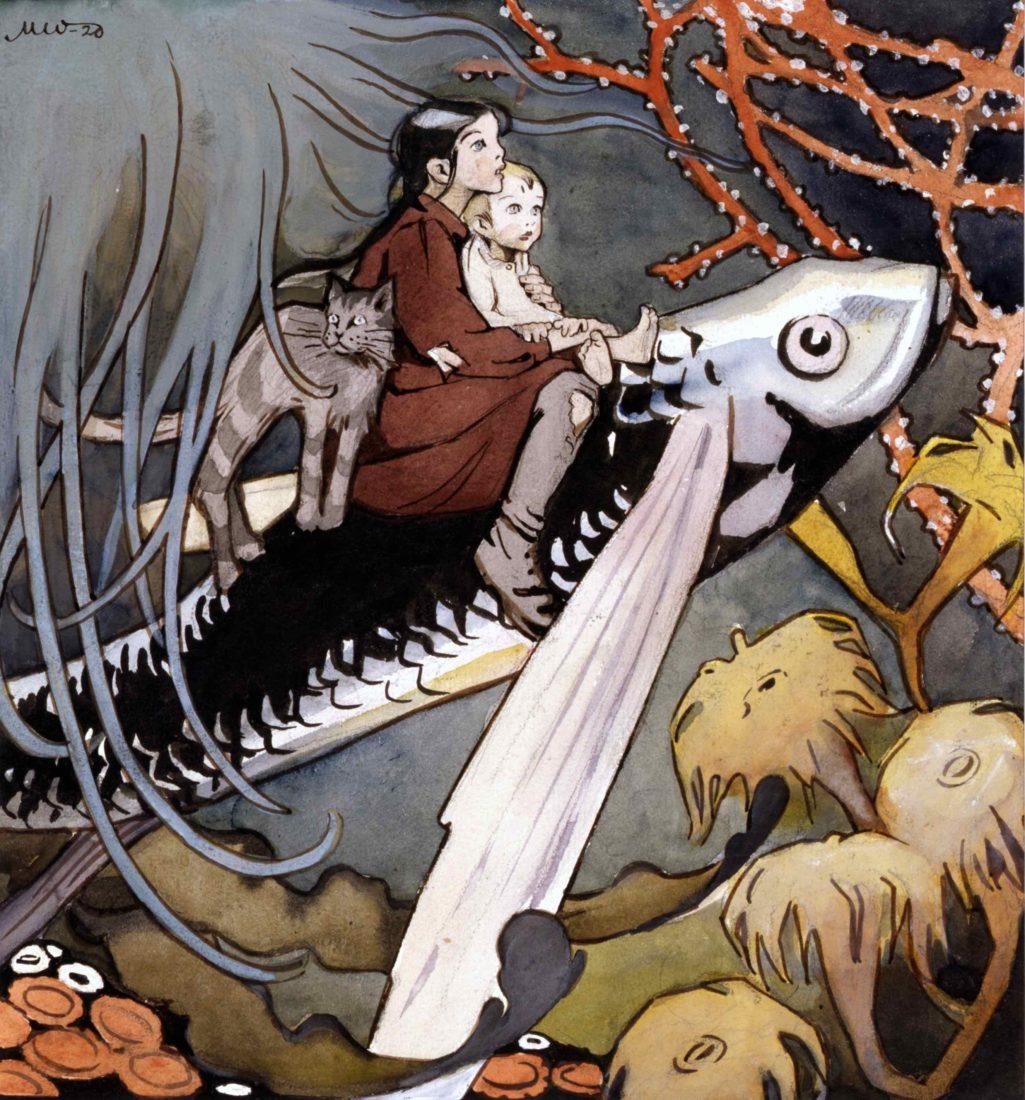 Martta Wendelin, illustration pour le cadeau de la maitresse des eaux