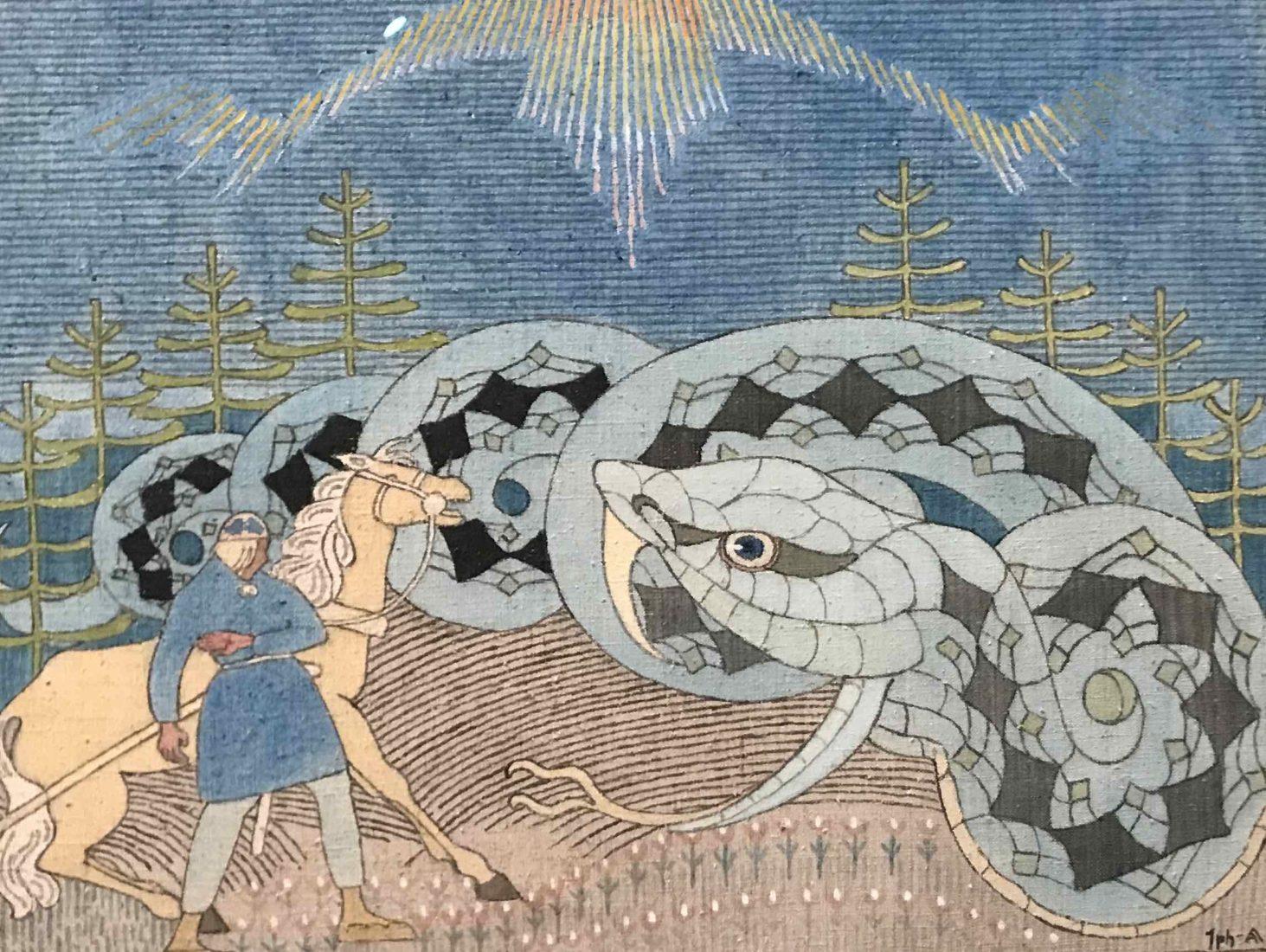 Lemminkäinen et le serpent d'eau, Joseph Allanen