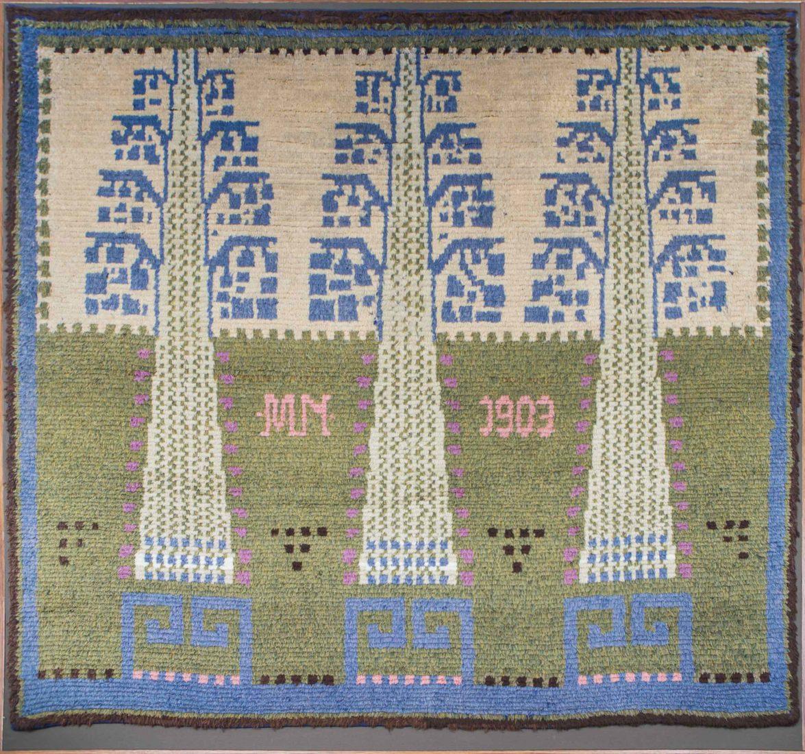 Eliel Saarinen : tapis de la grande salle du manoir de Suur-Merijoki