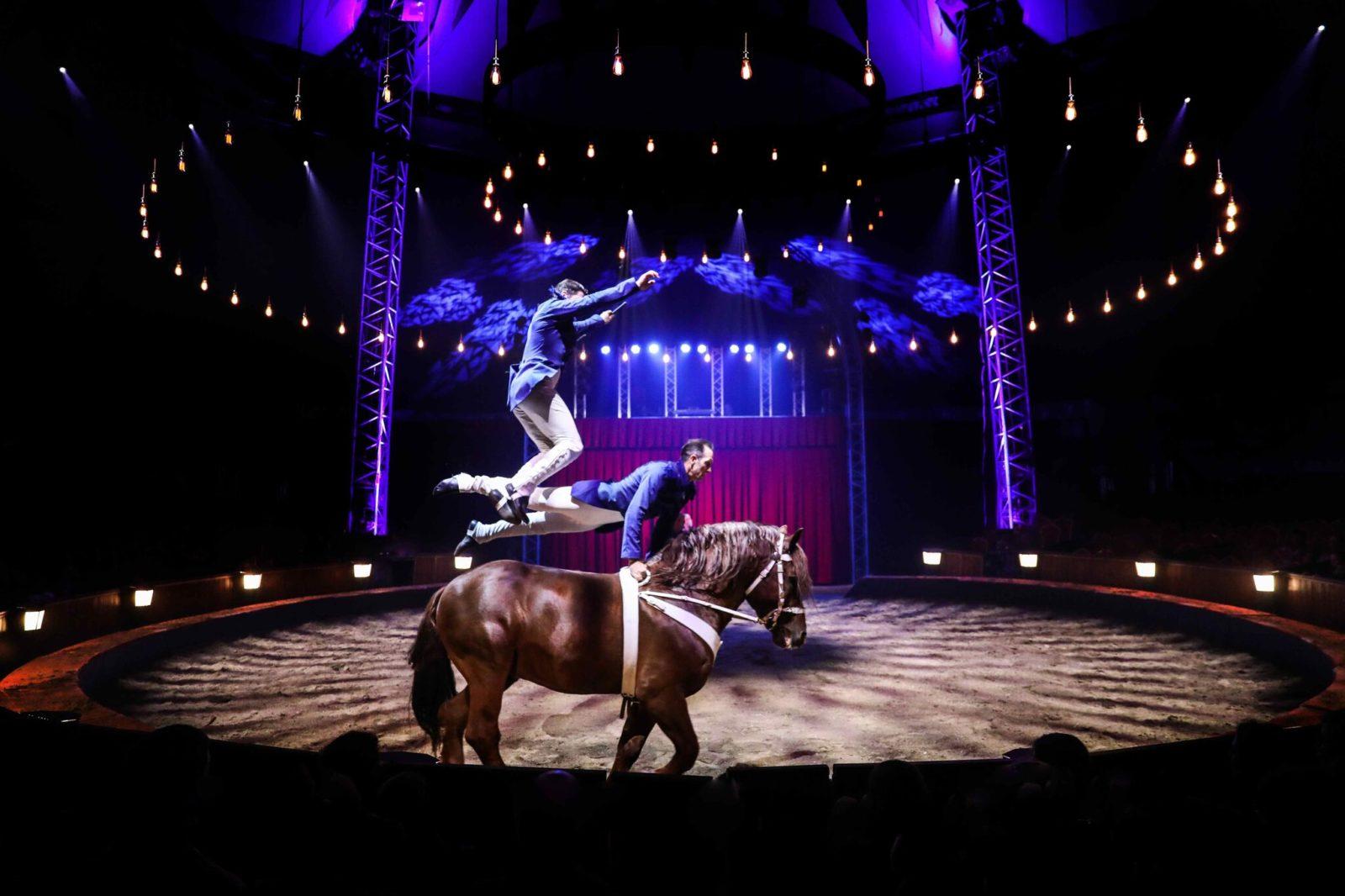 Cirque Alexis Gruss acrobatie chevaux