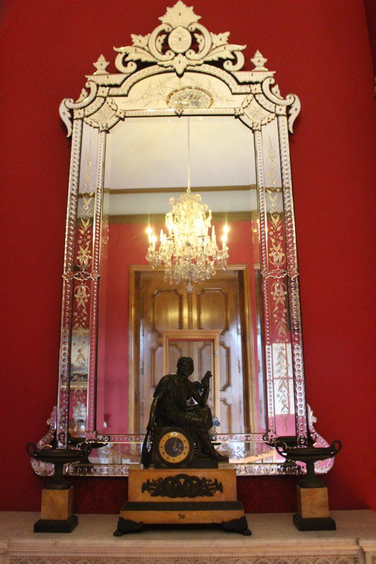 Grand miroir vénitien Salon musée Ariana Genève