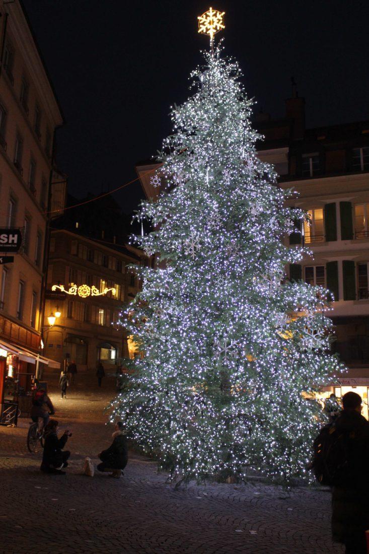 Sapin de la place Palud Bô Lausanne
