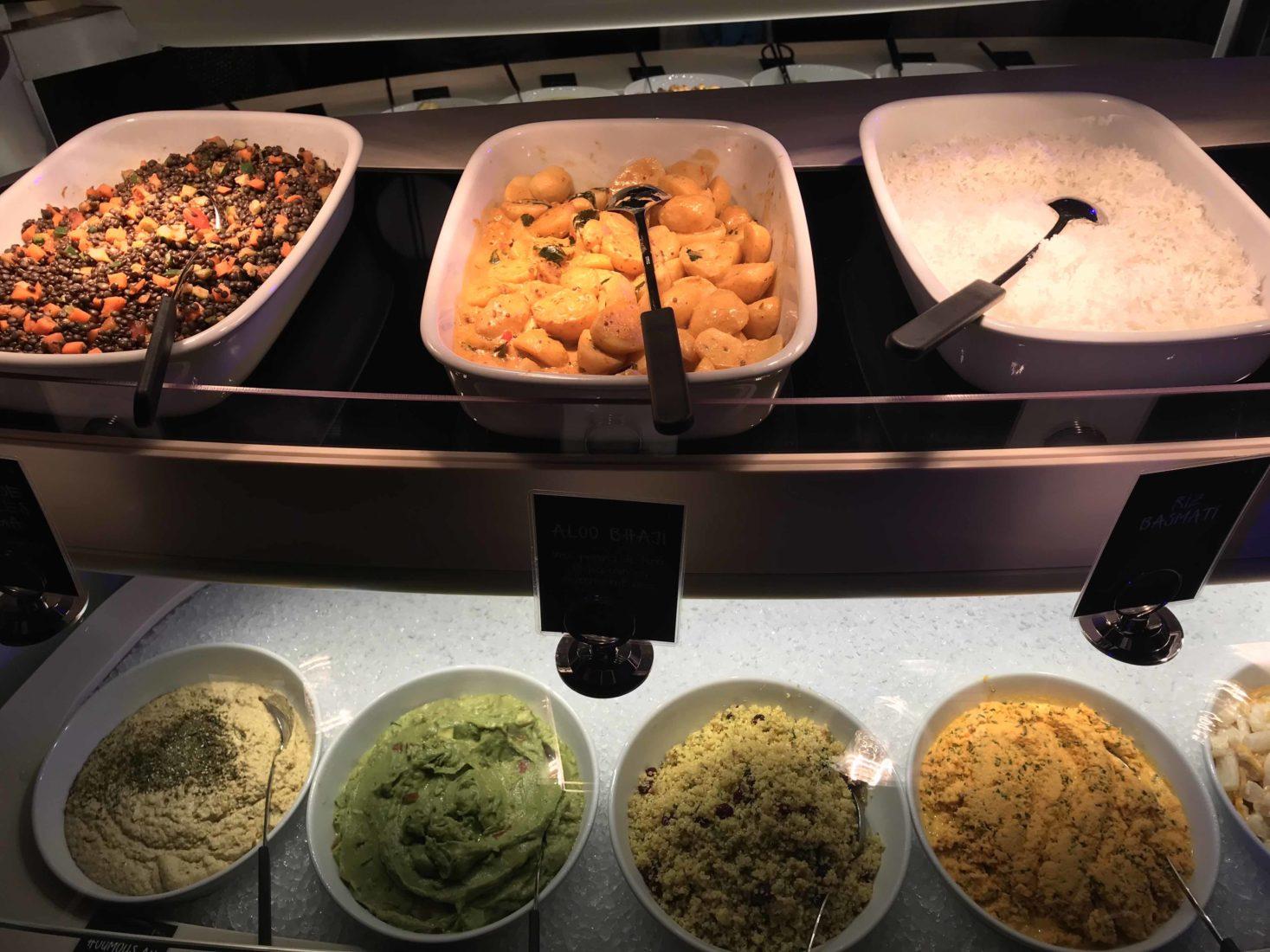 tibits buffet de la gare Lausanne plats vegan du buffet