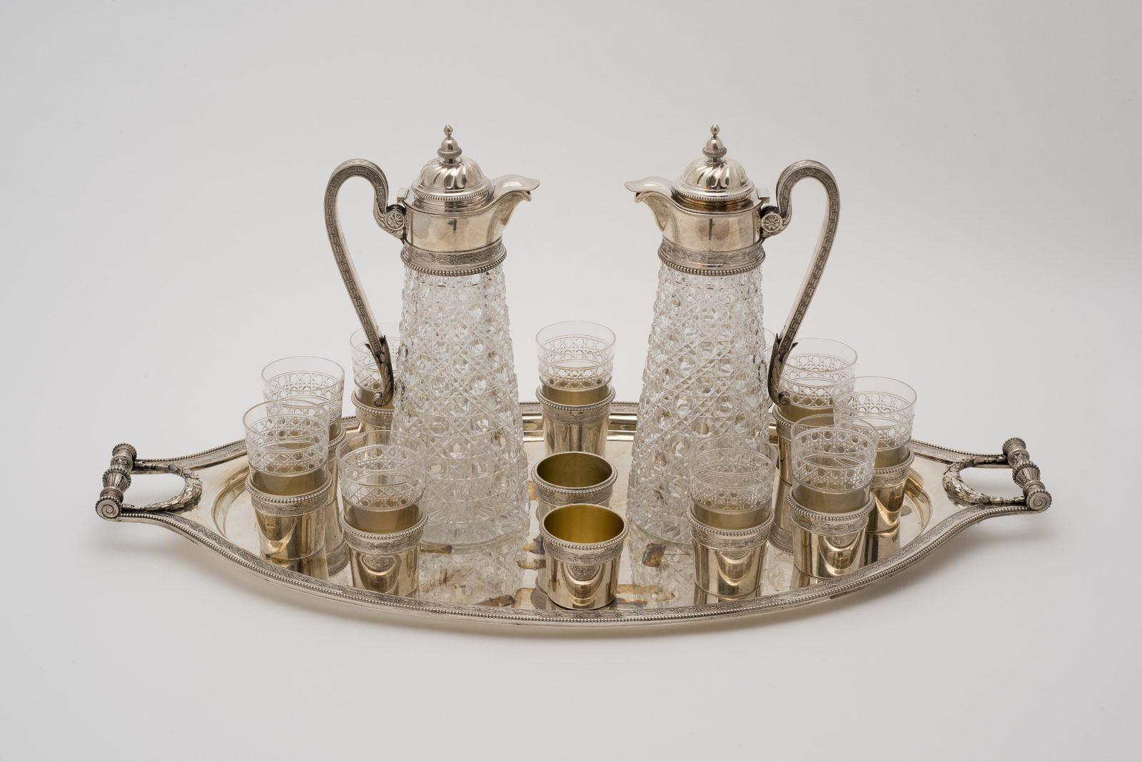 Exposition à Istra (Russie) Fabergé Service à vodka