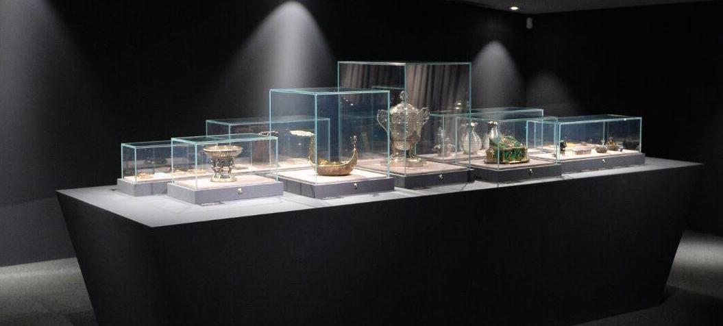 Exposition à Istra (Russie) Fabergé présentation objets