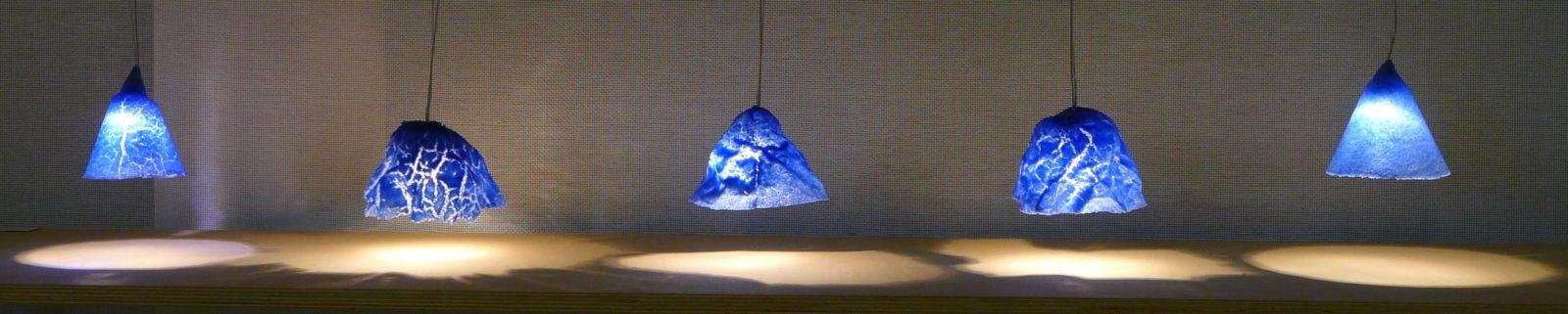 francoise Bolli luminaires bleu