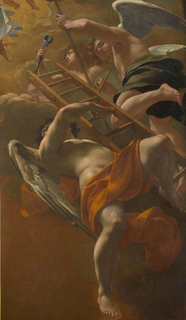 mmbaa Besançon Simon VOUET, Anges portant les instruments de la Passion